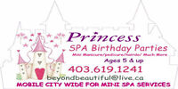 SPA  PARTY - mobile children & moms ( great valentines gift!)