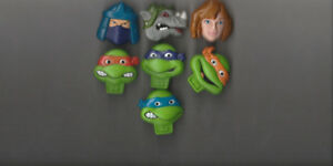 7 DIFF. 1980'S MUTANT NINJA TURTLE TOY CEREAL RUBBER RINGS