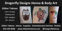 Glitter Tattoos - by Larissa of Dragonfly Henna
