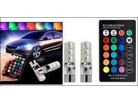 REMOTE CONTROL 501 COLOUR CHANGING 6 LED SUPER BRIGHT CHAMELEON DISCO BULB SET.*