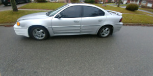 2002 pontiac grand am gt sold as is for parts or derby car