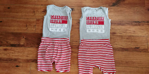 Old Navy Canada Day outfits 6-12 months