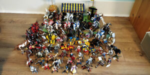 Huge Papo Knights Lot with Jousting Arena
