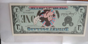 1987 DISNEY DOLLARS MICKEY MOUSE $1 FIRST SERIES * UNC