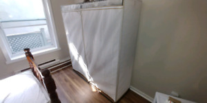 Mainstay all metal clothes closet in excellent condition