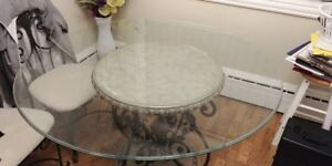 Victorian Style glass table, side table coffee table