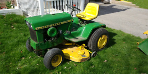 1971 John Deere 140 H1 with attachments