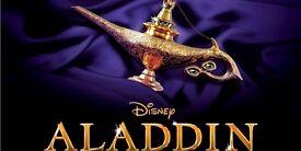 2 x Aladdin Tickets, London, 28th January 2017 2.30pm Front Row of Dress Circle.