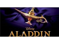 2 x Aladdin Tickets, London, 28th January 2017 2.30pm Front Row of Dress Circle.