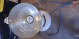Parabolic heater bought from Costco.