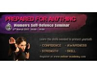 Free women's self defence seminar Southampton