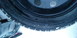 Snow tires. On rims