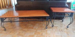 Table de salon bois/fer