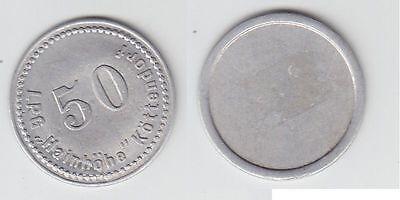 "50 Pfennig Aluminium Münze DDR LPG Geld ""Hainhöhe"" Köttendorf (109067)"