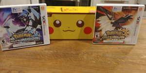 Limited Edition Pikachu Nintendo 2DS XL with Ultra Sun and Moon.