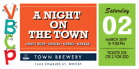 A Night On The Town Event at Town Brewery