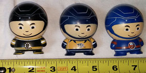 Qty 3 Mini Hockey Player Toy Figures