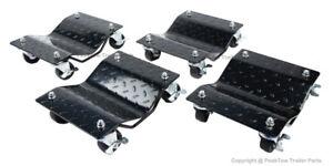 NEW! Black Heavy Duty 6000LBs Capacity Tire Wheel Car Vehicle
