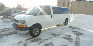 2012 Chevy Express 3500 Extended Passenger Van, 6.0L, Low K
