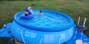 INTEX easy set pool .