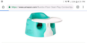 Bumbo chair with tray