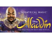 Aladdin 2 x tickets bargain, on Monday 18th at 7:30pm