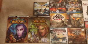 Assorted Computer Games (PC) on  DVD/CD $5 each
