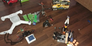 Large lot of heli and quad parts