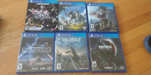 Play Station 4 games $10-50