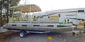 24' RIVIERA 40HP BOAT ONLY-EXCALIBUR TRAILER $2595 EXTRA OR RENT