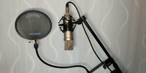 Rode NT1A Large Diaphragm Mic, Stand, and Pop Filter