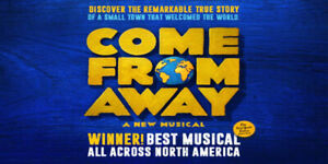 HARD TO FIND! ✯✯Come From Away Elgin Theatre FRI Mar 22 8PM✯✯