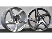 "18""& 19"" River R4 wheels to fit most Audi A3, Leon MK2, MK3, VW Golf MK5, MK6, MK7, Jetta Passat etc"