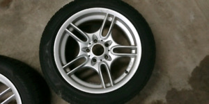 "Set of 17"" BMW wheels with tires"