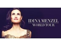 2 OR 4 TICKETS FOR IDINA MENZEL BRIDGEWATER HALL MANCHESTER - 18 JUNE 17 TICKETS IN HAND - 1ST ROW!