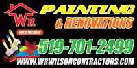 WR PAINTING .BEST CONTRACTORS  FULLY EQUIPPED & INSURED