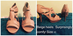 Super comfy Beige High Heels