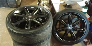 "5 bolt Uni 20"" Konig Rims with new Tires"