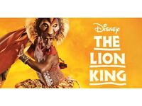 4 X Lion King Theatre Tickets - Urgent