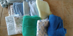 Baby Blankets, play pen sheets and Medium Sleep Sack