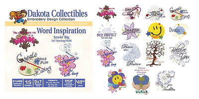 Dakota Collectibles Embroidery Machine Design CD - Word Inspiration 970466 ()