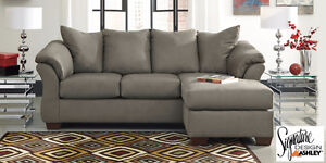 Brand NEW Darcy Cobblestone Sectional! Call 519-895-0012!