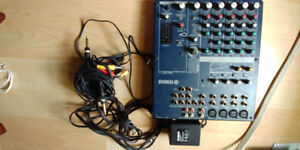 Yamaha 12 channel board with mic stand XLR Cable an pop filter