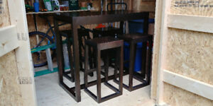 Counter Height Table and 4 Matching Stools - West Elm