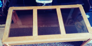 *RUDUCED* Glass coffee table with side tables