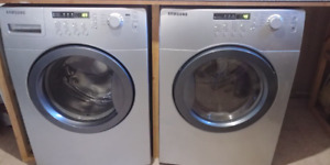 Stainless Steel Samsung Washer and Dryer - For Sale