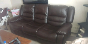 900 $ brown couch and love seat