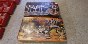 Diana Crystal Champagne and Brandy Glassware set of 12