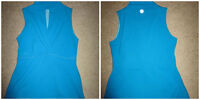 Two lululemon work out tops! (blue and black)