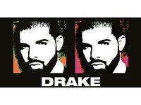 1 x Drake Boy Meets World Tour, London January 28th. Block 110, Row G Seat 287